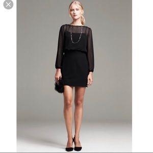 Banana Republic black midi dress longsleeve